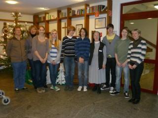 Gruppenfoto mit den Schülern vom Gymnasium Johanneum Wadersloh