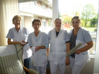 Frau Brandt, Frau Skusa, Frau Chytil-Rautenberg und Frau Senyurt
