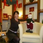Astrid Nötzold hat viel Freude an unserem Schneemännchen Jakob