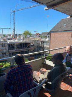 Herr Wesemann, Herr Rabener und Herr Schmelich zur täglichen Baubesprechung